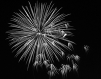 Fireworks in black and white!