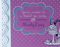 Bridal Tea Party Postcard