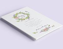 A&K wedding invitation