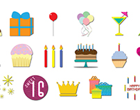 Birthday Social Media Stickers
