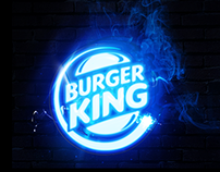Burger King Neon Logo on Behance