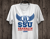 University prints on t-shirts