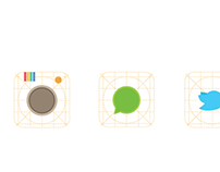 Icon minimalist redesign concept