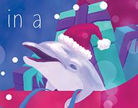 Christmas Seahorse Open Sleigh