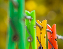 Autumn Clothespins