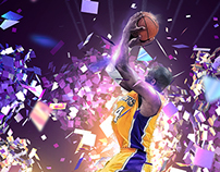 Kobe Bryant 32K points artwork