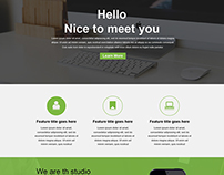 Faltu One Page Web Template