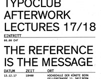 TYPOCLUB AFTERWORK LECTURES