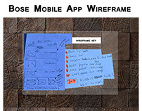 Bose Mobile App Concept WIREFRAME