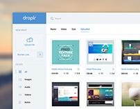 Droplr Dashboard