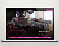 Central Apartamentos - Web design