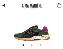 A-Ma-Maniere Mobile UI Prototype