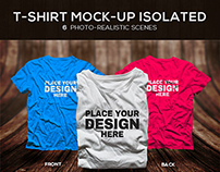 Male T-shirt Mock-up Isolated PSD