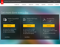 Adobe Document Solutions Web, In-App Designs