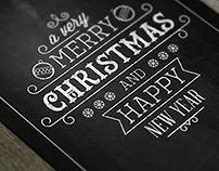 Christmas Chalkboard Postcard