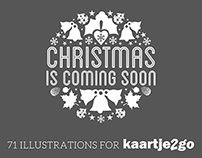 Christmas Illustrations for Kaartje2go