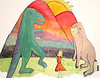 King Kong vs. Godzilla - Wall Mural