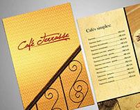 Marca e cardápio: Café Terrasse