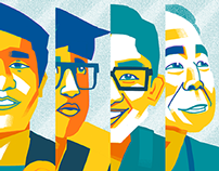 Portraits for the UP Sandigan Leadership Summit 2014