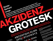 Typeface Research Poster – Akzidenz Grotesk