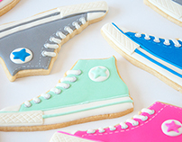 High Top Shoes - Decorated Sugar Cookies