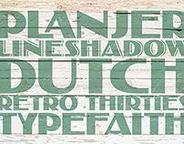 Planjer Art Deco Font