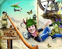 'Summer-Holiday' Facebook cards  for Karvan Cévitam