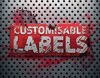 Editable Rusty Grunge Labels