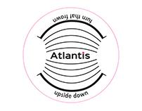 Logo design for Atlantis: an island for pessimists