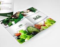 Diseño de carta del menú para restaurante