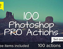 100 Photoshop Pro Actions - Set 1