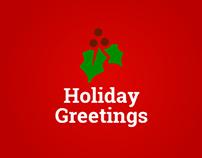 Holiday Greetings - Landing Page Greeting Card