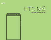 HTC One M8 Photoshop Shape