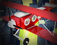 Avión -barón rojo- en 3D