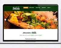 Diseño de la web de Delizia