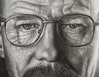 Walter White Charcoal Portrait