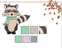 Raccoon Character Design