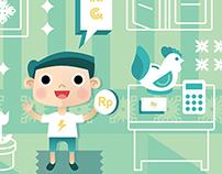 Money Saving Illustration | Personal Project