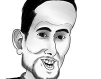 Digital Caricature of Jeff Bell