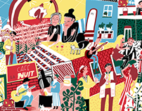 "Illustrations for the French magazine "" Revue Dada"""