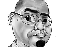 Digital Caricature of Sir Ismawi