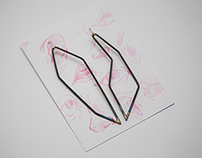 Geometric Brazed Steel Earrings
