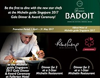 Badoit for Michelin guide Singapore 2017