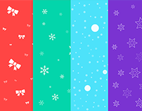 Seamless Christmas Backgrounds Freebie