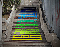 Typographic Stairs