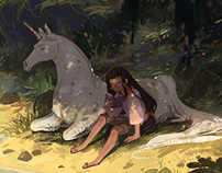 Girl and Unicorn