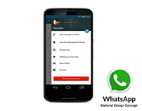 WhatsApp Android 5.0 Materialdesign Concept