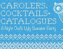 Carolers, Cocktails & Catalogues Night Owls postcard