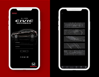 UI Design for Honda Civic Hatchback