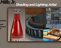 Shading and Lighting Art Evaluation Demo Reel